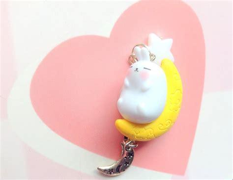 Molang Keychain kawaii keychain molang moon rabbit anime keychain by