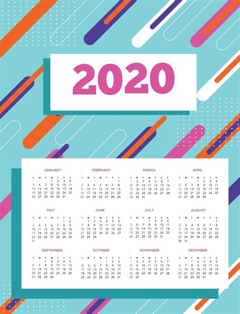 yearly calendar printable calendar