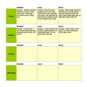 Menu Planner Template Excel weekly menu planner template excel weekly menu planner