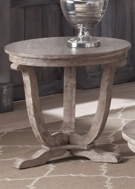 Greystone Mill White Wash End Table From Liberty