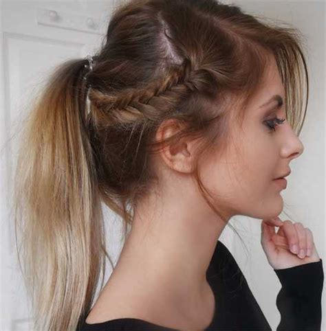 ponytail with bangs hairstyles sophisticated side ponytail hairstyles with bangs