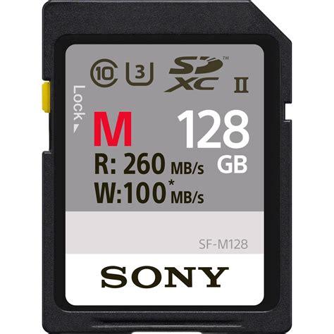 Sony Sdxc Uhs I U3 Class 10 94mbs 64gb Sf 64ux2 Symc0hxx sony 128gb m series uhs ii sdxc memory card u3 sf m128 t b h