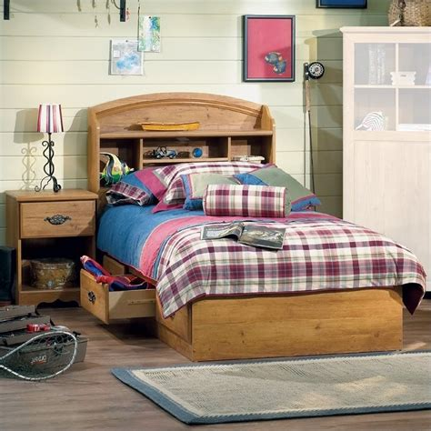 kids twin bedroom set south shore prairie kids twin wood bookcase bed 3 piece