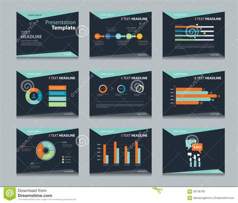 Black Infographic Powerpoint Template Design Backgrounds Business Presentation Template Set Powerpoint Template Design