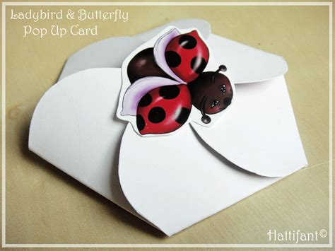 firework pop up card template ladybird butterfly pop up card hattifant