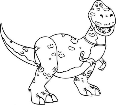 free coloring pages of toystory rex