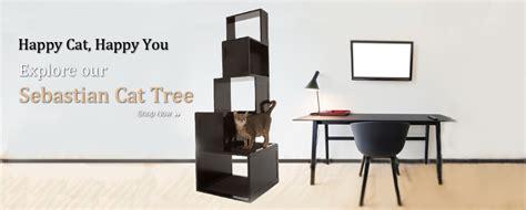 the sebastian modern cat tree designer pet products