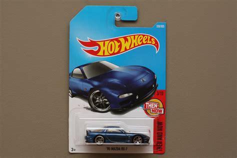 Hotwheels Reguler 95 Mazda Rx 7 Blue wheels 2017 then and now 95 mazda rx 7 blue
