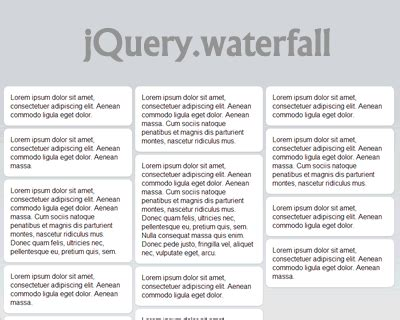 lightweight responsive pinterest layout with jquery waterfall jquery waterfall pinterest like waterfall layout jquery