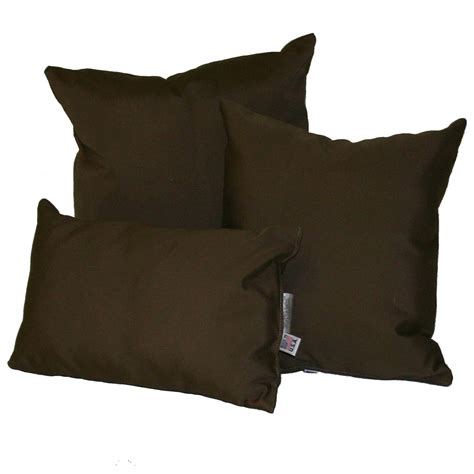 Outdoor Throw Pillows Sunbrella by Bay Brown Sunbrella Outdoor Throw Pillow Dfohome