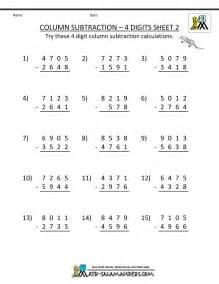 worksheets for math 3rd grade 4 digit subtraction