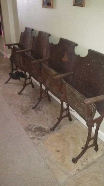 antique wooden church chairs antique folding cast iron church chairs wood row of 4
