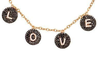 jewelry worn on rhobh bettina javaheri dangling l o v e necklace pradux