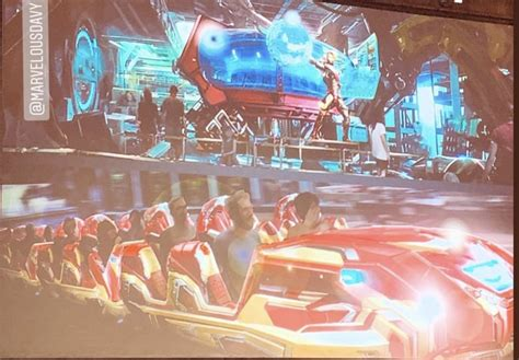 concept art iron man roller coaster walt