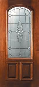Wooden Front Door With Glass Panels Slab Single Door 80 Wood Mahogany Versailles 2 Panel Arch Lite Glass Mediterranean Front