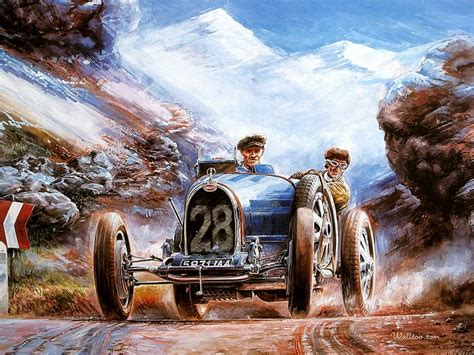 classic paint bugatti vintage car vintage bugatti racing cars 4 wallcoo net