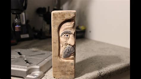 carving  middle aged woodspirit  dremel rotary