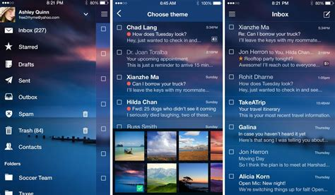 iphone email themes yahoo mail app for android iphone and ipad updates with