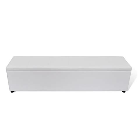 white storage bench white storage bench large size vidaxl com