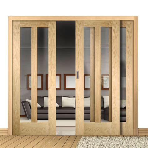 Oak Sliding Patio Doors Easi Slide Op2 Oak Novara Sliding Door System In Three Size Widths With Clear Glass