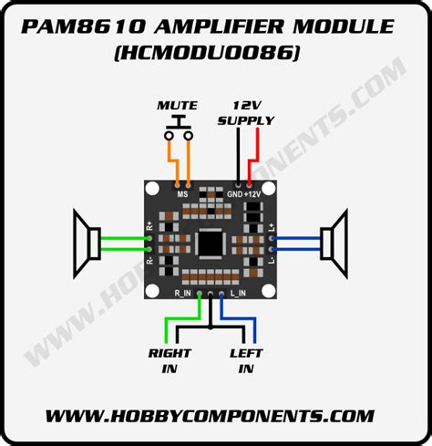 forum hobbycomponents view topic pam8610 10w stereo audio lifier module hcmodu0086