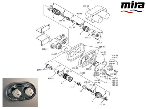 Mira Shower Spare Parts by Mira 915 B Shower Spares And Parts Mira 915 B National