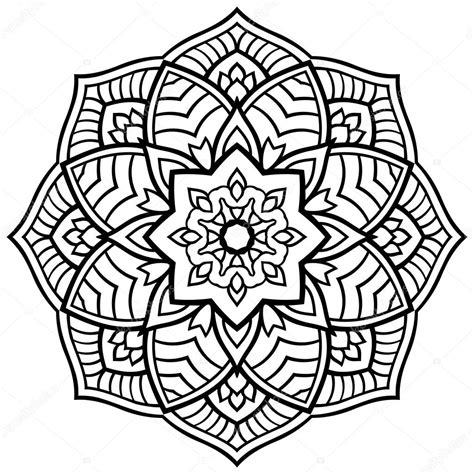 vector simple mandala stock vector 169 matorinni 108450168