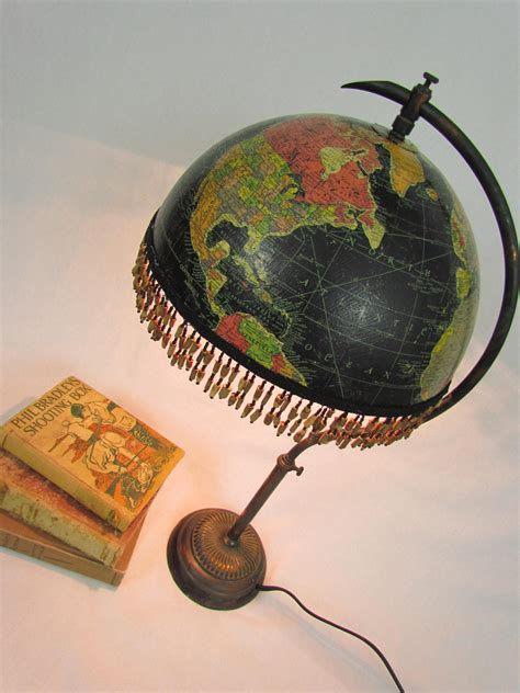 antique light up globe dishfunctional designs global recycling old globes upcycled