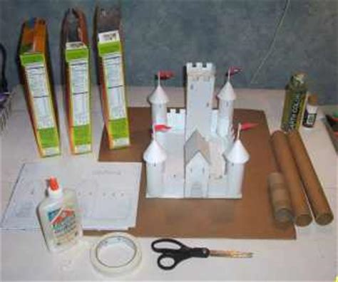 How To Make A Paper Castle Easy - build a cardboard and paper castle