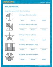picture percent percentage worksheet for 4th grade kids