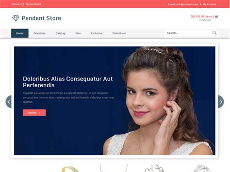 free bootstrap templates for jewellery pendent store bootstrap jewellery template freemium download