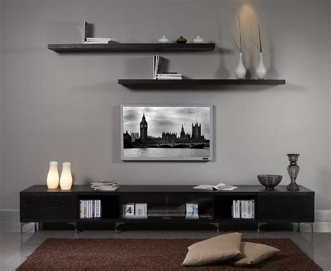 tv wall units stylish tv wall unit midt