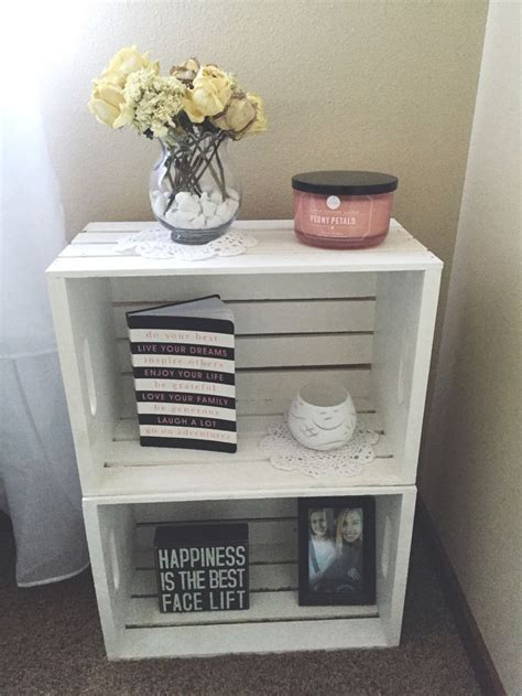 nightstand ideas 25 best ideas about crate nightstand on crate