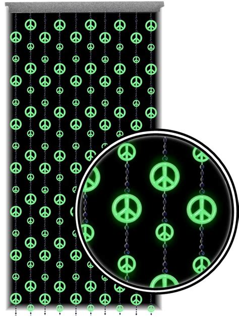 blacklight beaded curtains beaded curtains glow in the dark and blacklight peace