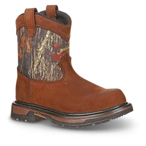 rocky 174 ride waterproof wellington boots brown