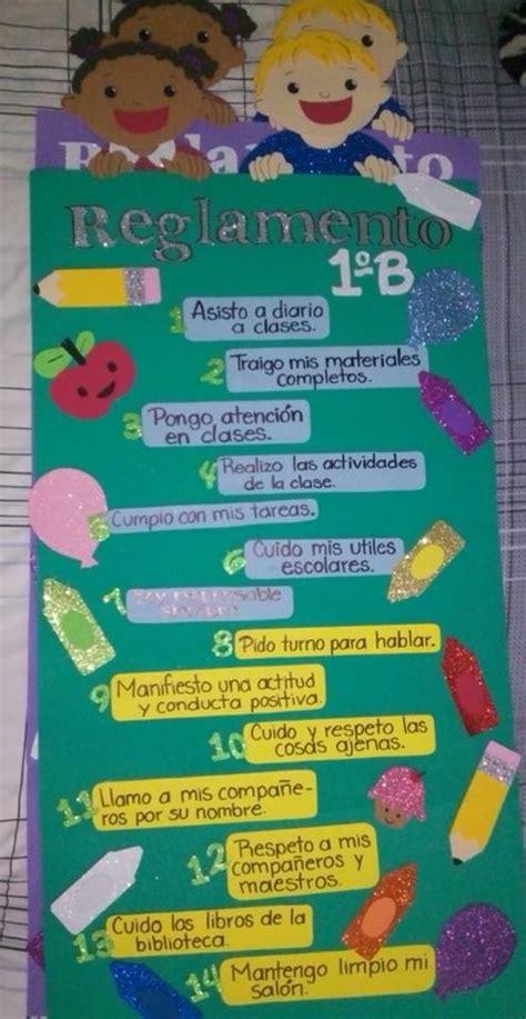 normas para decorar un salon reglamento de sal 243 n de clases foamy foami creatives