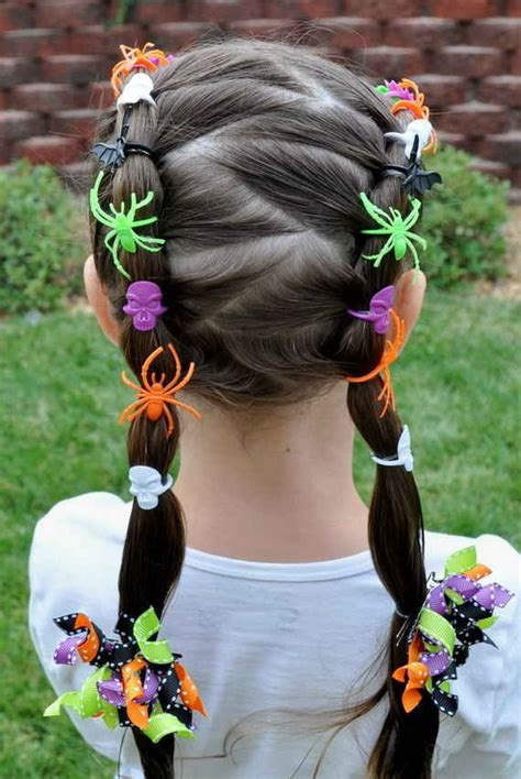 halloween hairstyles for school 30 ideas for crazy hair day at school for girls and boys