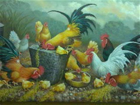 Lukisan Bunga Buah belajar menggambar lukisan bunga ayam buah dan ikan