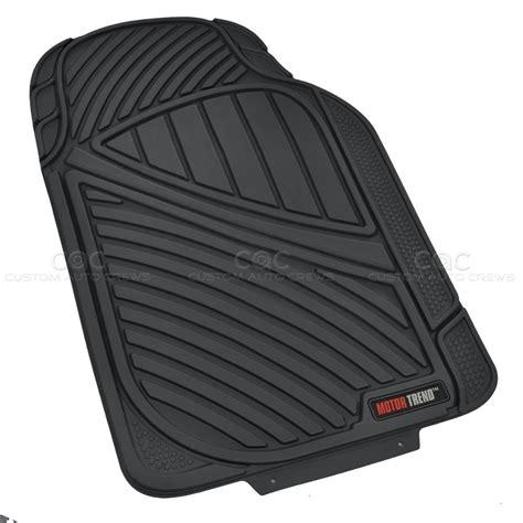 Black Pc Rubber Floor Mat Car Suv Heavy Duty  Season