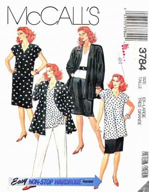 Half Size Wardrobe by Mccall S Sewing Pattern 3784 Half Size 22 189 24 189 Easy