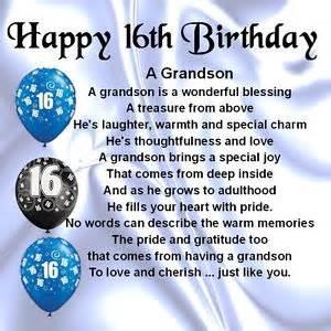 personalised coaster grandson poem 16th birthday