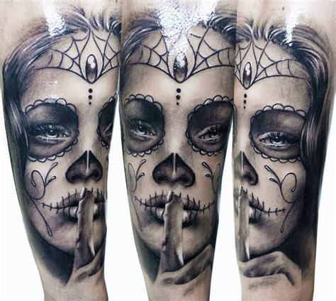 female sugar skull tattoos sugar skulls and day of the dead tattoos on