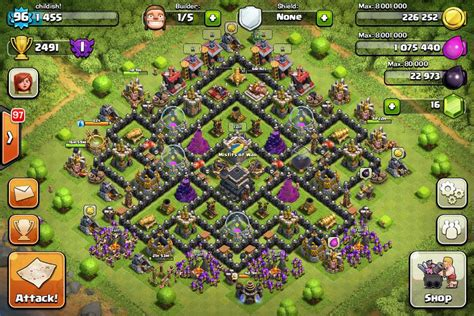 defense layout in coc top 10 clash of clans town hall level 9 defense base design