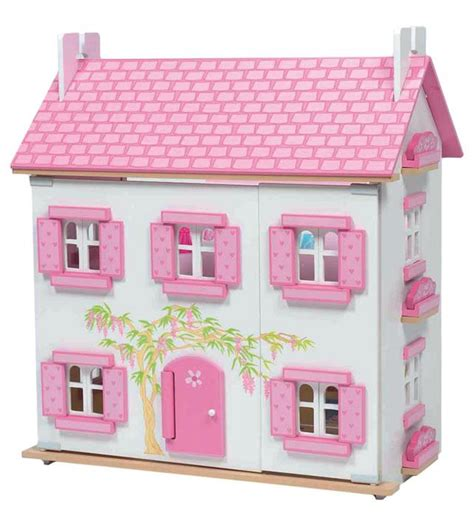 le toy van wooden dolls house new le toy van painted wooden doll house wisteria ebay