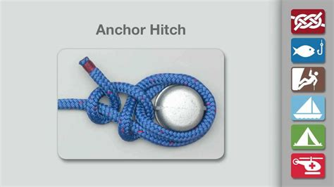 youtube boat knots anchor hitch knot how to tie an anchor hitch knot youtube