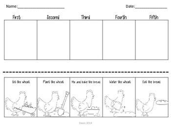 printable version of little red hen little red hen sequencing freebie put the pictures in