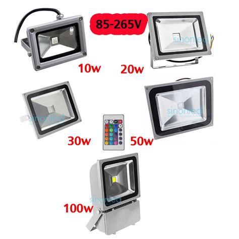 red led flood light 85 265v 10w 20w 30w 50w 100w led rgb flood light