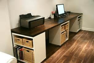 ikea build your own desk office desk with ikea besta cabinets awesome diy desks