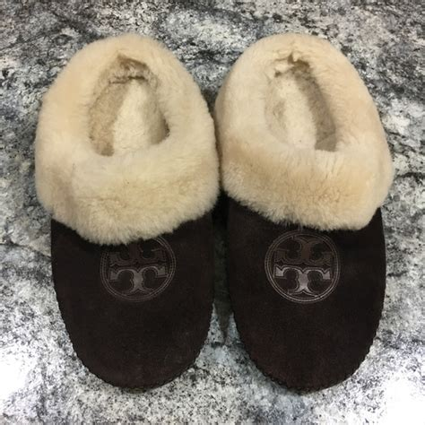 tory burch house slippers 50 off tory burch shoes tory burch coley shearling house slipper suede 9 from