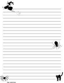 Halloween Printable Writing Paper Halloween Black And White Cats Writing Paper